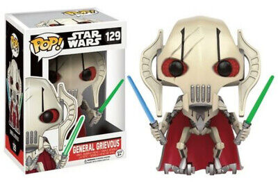 Funko Pop! Star Wars 129 General Grievous Vaulted Exclusive Rare Boite Neuf