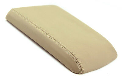 Real Leather BEIGE Center Console Lid Armrest Cover For 04-09 Cadillac SRX