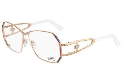 Cazal 225 Eyeglasses Frames Color 002 Rose Gold White Tip Authentic New