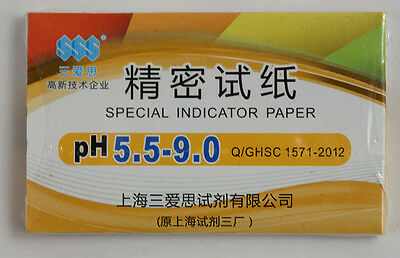 1 Pack 80 Strips Of Ph 5.5-9.0 Special Indicator Paper Test Lab Water Soil