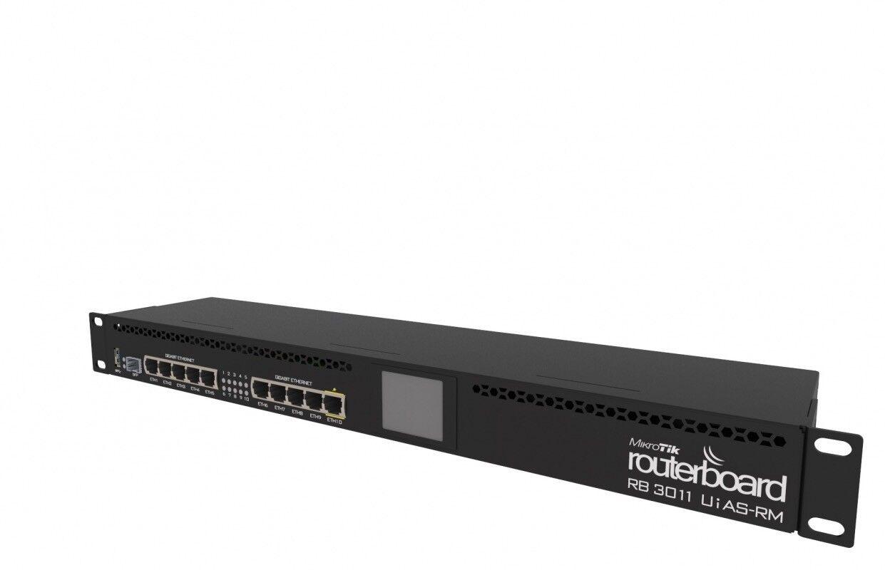 Mikrotik RB3011UiAS-RM Routerboard  2 core ARM Architecture