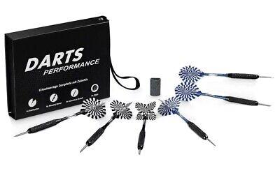 Dartpfeile 6 Stück Steel Darts Pfeile Set Profi Steeldarts mit Metallspitze 23g