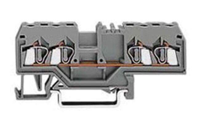 WAGO 280-633 4 Leiter Durchgangsklemme 0,08-2,5mm² grau | neu | inkl. MwSt