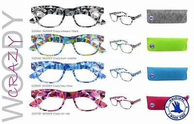 Wenn Lesebrille..dann I NEED YOU - WOODY  CRAZY  +1,0 +1,5 +2,0 +2,5 +3,0