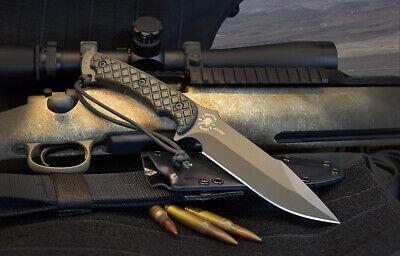 Spartan Blades Knife Horkos Black Blade Black Handle Black Kydex Sheath Black Blade Kydex Sheath