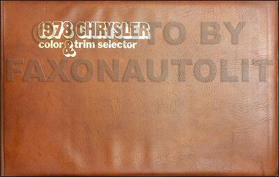 1978 Chrysler Color Upholstery Dealer Album LeBaron Cordoba Newport New Yorker