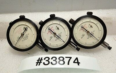 Lot Of Three Starrett 25-111 Ns Dial Indicators Inv.33874