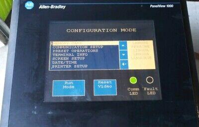 Allen Bradley Panelview 1000 2711-t10c10 Ser B Color Touch Screen