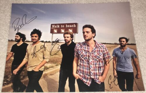 YOUNG THE GIANT SIGNED AUTOGRAPH 11X14 PHOTO B SAMEER GADHIA +4 w/EXACT PROOF