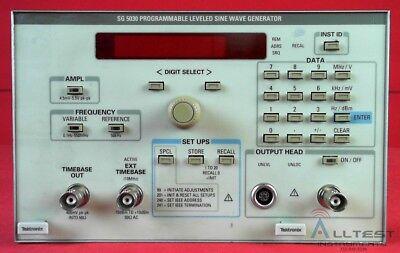 Tektronix Sg5030 Programmable Level Sinewave Generator 0.1 Hz