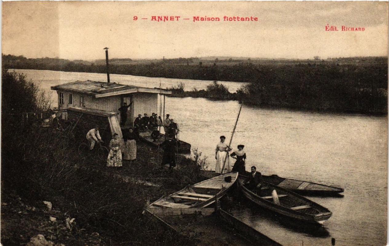 Cpa annet maison flottante (608069)