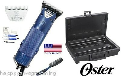Oster A5 Turbo 2 Clipper KIT-CASE,DVD,10 WIDE BLADE COMB Dog Pet Horse Grooming