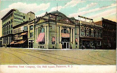 PC USA Hamilton Trust Company, City Hall Square. Paterson, N. J. (a729) (Hamilton Party City)