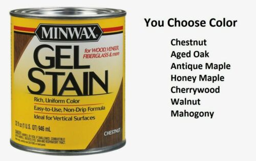 Minwax Wood Finish Transparent Oil-Based Gel Stain 1 qt. **YOU PICK COLOR**