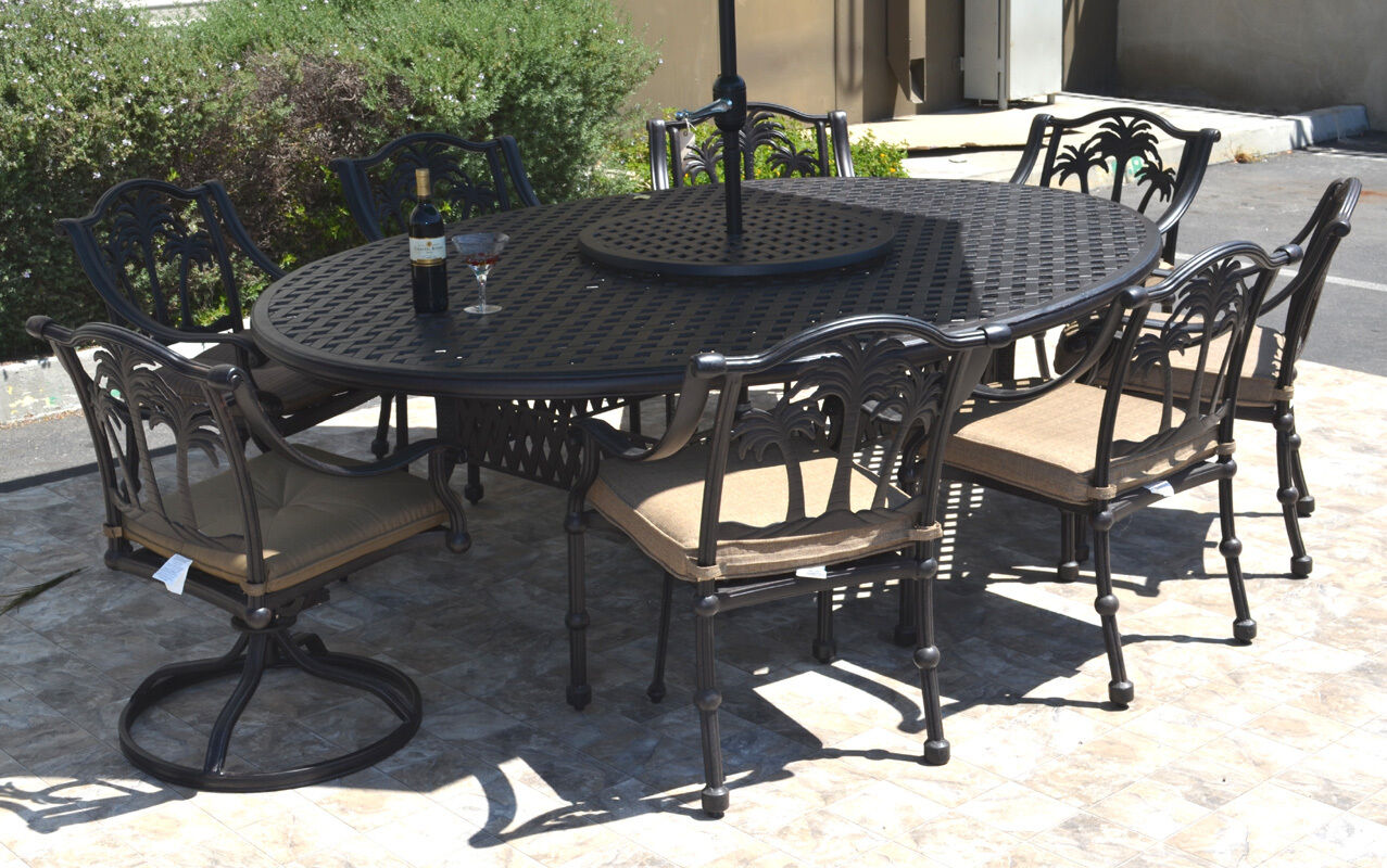 patio dining set 10 piece cast aluminum