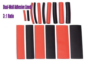 25ft 12 Dual Wall 31 Heat Shrink Tubing Adhesive Glue Marine Blackred