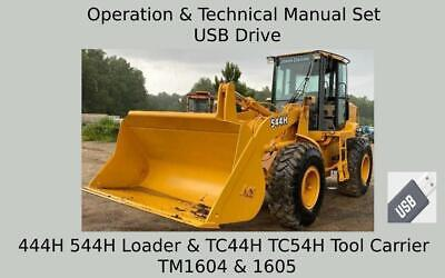 John Deere 444h 544h Loader Tc44h Tc54h Tool Carrier Manual Repair Set Tm1604