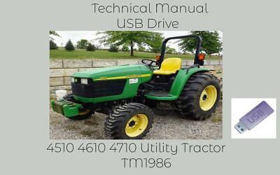 John Deere 4510 4610 4710 Utility Tractor Service Technical Manual Tm1986 Usb