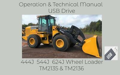 John Deere 444j 544j 624j Wheel Loader Operation Technical Manual Set Tm2136