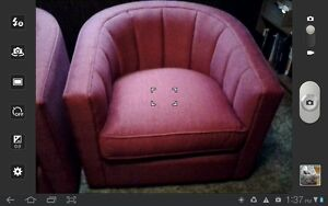 2large red tub chairs. Windsor Region Ontario image 1