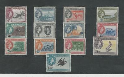 Virgin Islands, Postage Stamp, #115-127 Mint LH, 1956 (p)
