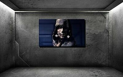 LEINWAND BILD XXL POP ART ZOMBIE GAS MASKE HORROR HALLOWEEN ABSTRAKT BIS 150x90