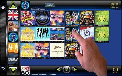 Digital Jukebox software mp3 juke coin selector acceptor Touchscreen man cave