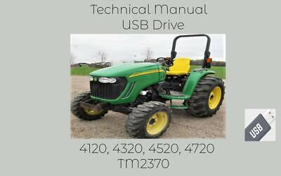 John Deere 4120 4320 4520 4720 Tractor Service Technical Manual Tm2370