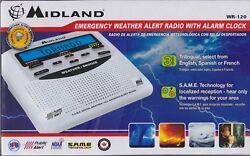 New MIDLAND Emergency Weather Alert Radio with Alarm Clock