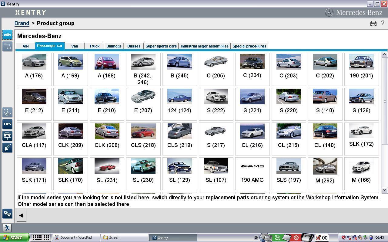 Диагностическое программное обеспечение Mercedes BENZ Xentry