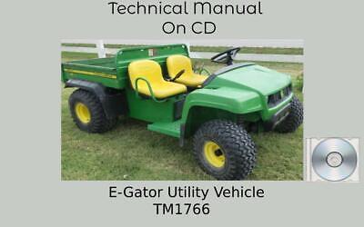 John Deere E-gator Utility Vehicle Technical Manual Tm1766