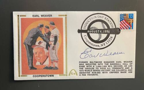 Earl Weaver Autographed First Day Cover Envelope Baltimore Orioles HOF