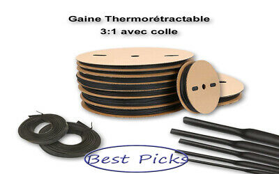 50ft. 38 Diameter Black 31 Polyolefin Heat Shrink Tubing Adhesive Glue Lined