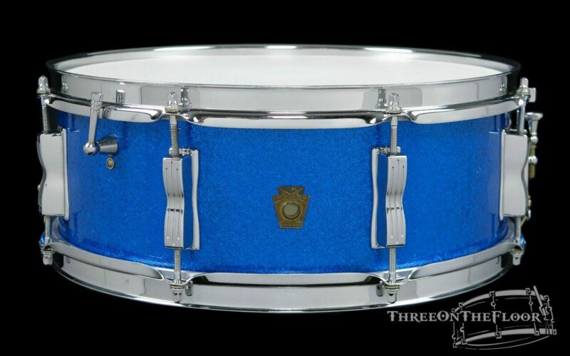 1964 Ludwig Jazz Festival Model Snare Drum Blue Sparkle  : 5 x 14