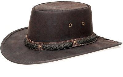 Hut Australien (Barmah Hat 1018 Squashy Kangaroo Crackle Lederhut Outback Australien | Brown)