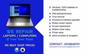 REPAIR LAPTOPS & COMPUTERS (MACS/WINDOWS)