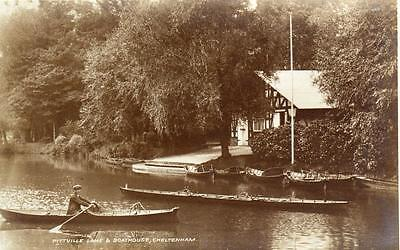 Pitville Lake Boathouse Cheltenham unused RP old pc