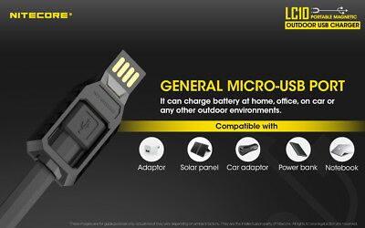 как выглядит Зарядное устройство NITECORE LC10 2-in-1 USB Charger for Batteries Cell Phones with Backup Light фото
