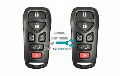 2 Replacement for 2004-2009 Nissan Quest Remote Car Key Fob 6b Shell Pad Case