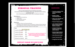 Sarah Hervert Personal Training Tingalpa Brisbane South East Preview