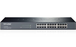 TP-LINK - 24 Port Gigabit Rack Mount Network Switch 10/100/1000 Mbps - TL-SG1024