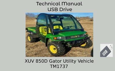 John Deere Xuv850d Gator Utility Vehicle Technical Manual Tm1737