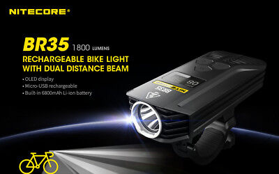 NITECORE BR35 1800 Lumen USB Rechargeable Dual Distance Beam Bike Headlight BR35 for sale  Shipping to India