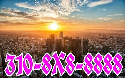 310 the very Best easy phone number (310)8X8-8888 Los Angeles SIM card ready !!!