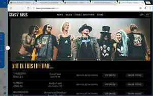 Guns n Roses 2 tickets VIP Backstage Tour Party tickets $1700 Murrumba Downs Pine Rivers Area Preview
