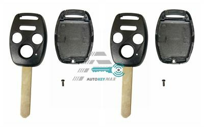 2 New replacement Remote Key Fob Shell Case for 04 12 Honda Accord Civic Pilot