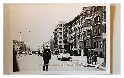 Nyc New York City Photo Police Officer Nypd Closed Street 1975 1970S Vintage