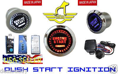 Audi Chrome LED Push Button Start Engine Ignition Starter Kit -FREE USA -