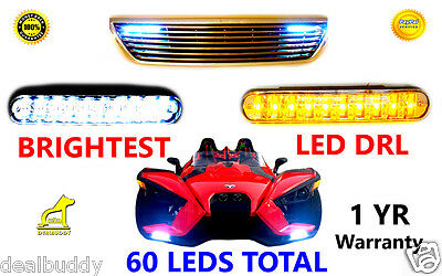 Pontiac White FOG LED DRL Light + Amber Turn Signal NEW - FREE 2-3 USA