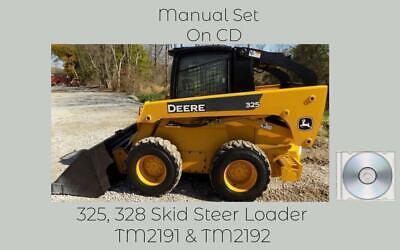 John Deere 325 And 328 Skid Steer Loader Repair Technical Manual Set Tm2192